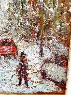 Rue  St. Denis 1997 40x34 Huge Original Painting by Samir Sammoun - 5