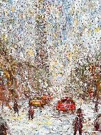 Rue  St. Denis 1997 40x34 Huge Original Painting by Samir Sammoun - 4
