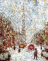 Rue  St. Denis 1997 40x34 Huge Original Painting by Samir Sammoun - 0