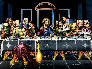 Last Supper 27x39 Original Painting - Ernesto Sanchez