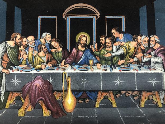 Last Supper 27x39 Original Painting by Ernesto Sanchez