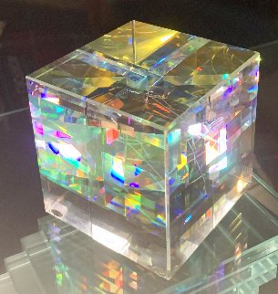 Untitled Glass Sculpture 3x3 Sculpture - Toland Sand