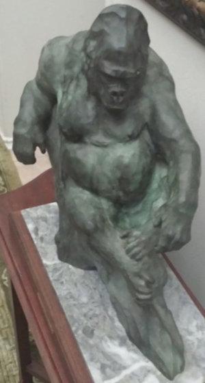 Gorilla Bronze Sculpture 1987 17 in Sculpture by Sherry Sander