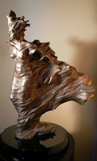 Before the Dance Nickel Bronze Sculpture AP 1998 28 in Sculpture - Roberto Santo