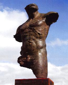 Torso 220 Life Size Unique  Bronze Sculpture 2006 88 in  Sculpture - Roberto Santo