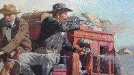 Stagecoach Robbery 34x46 Original Painting by Arthur Sarnoff - 9