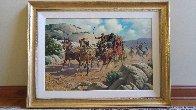 Stagecoach Robbery 34x46 Original Painting by Arthur Sarnoff - 2