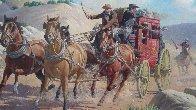 Stagecoach Robbery 34x46 Original Painting by Arthur Sarnoff - 3