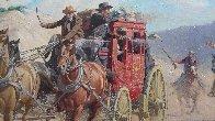 Stagecoach Robbery 34x46 Original Painting by Arthur Sarnoff - 5