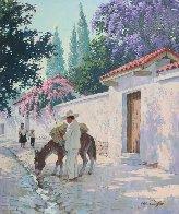 Cuernavaca in Full Bloom 30x25 Original Painting by Arthur Sarnoff - 2