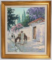 Cuernavaca in Full Bloom 30x25 Original Painting by Arthur Sarnoff - 1