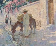 Cuernavaca in Full Bloom 30x25 Original Painting by Arthur Sarnoff - 4