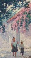 Cuernavaca in Full Bloom 30x25 Original Painting by Arthur Sarnoff - 3