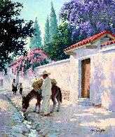 Cuernavaca in Full Bloom 30x25 Original Painting by Arthur Sarnoff - 0
