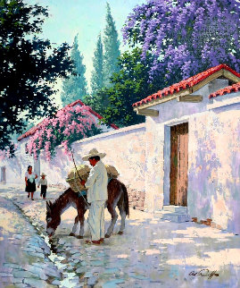 Cuernavaca in Full Bloom 30x25 Original Painting - Arthur Sarnoff