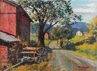 Country Road Original 1957 28x36 Original Painting by Arthur Sarnoff - 0