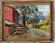 Country Road Original 1957 28x36 Original Painting by Arthur Sarnoff - 1