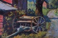 Country Road Original 1957 28x36 Original Painting by Arthur Sarnoff - 2