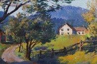 Country Road Original 1957 28x36 Original Painting by Arthur Sarnoff - 3