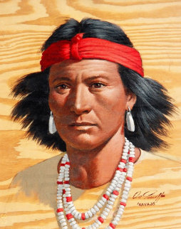 Indian 1980 Original Painting - Arthur Sarnoff