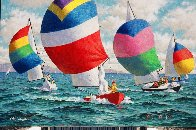 Sail Race 1980 24x36 Original Painting by Arthur Sarnoff - 1