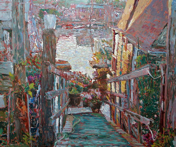 Sausalito Houseboat 1989 Limited Edition Print by Marco Sassone