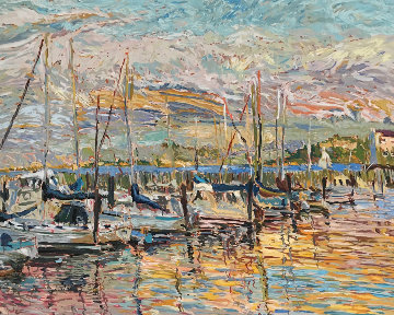Pier Thirty Nine  1987 Limited Edition Print by Marco Sassone