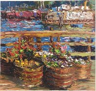 Houseboat Flowers 1988 Limited Edition Print by Marco Sassone - 1