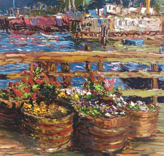 Houseboat Flowers 1988 Limited Edition Print - Marco Sassone