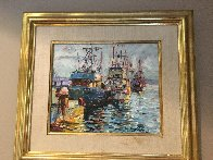 Fishing Boats 1978 17x20 (Early) Original Painting by Marco Sassone - 2