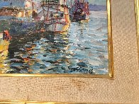 Fishing Boats 1978 17x20 (Early) Original Painting by Marco Sassone - 3