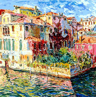 Venetian Garden AP 1984 Limited Edition Print by Marco Sassone