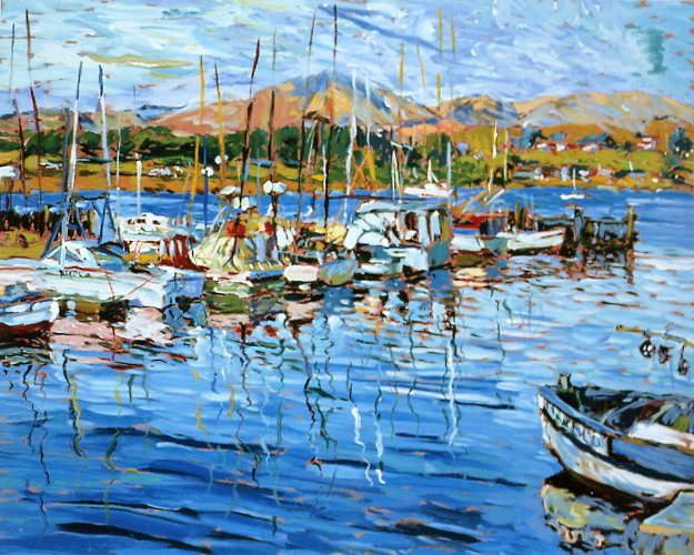 Tiburon Harbour AP 1990 Limited Edition Print by Marco Sassone
