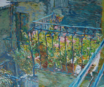 Le Balcon Bleu 1988 Limited Edition Print by Marco Sassone