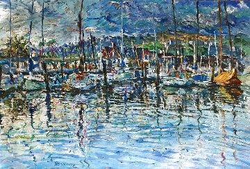 Santa Monica Composizione 42x52  Original Painting - Marco Sassone