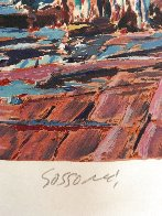 Boats in the Harbor  (Early work) Limited Edition Print by Marco Sassone - 1