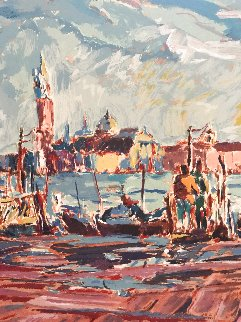 Boats in the Harbor  (Early work) Limited Edition Print - Marco Sassone