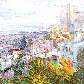View with Bay Bridge (San Francisco) 1987 Limited Edition Print - Marco Sassone