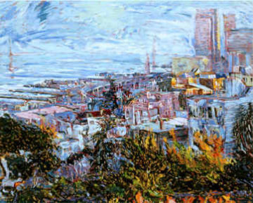 View with Bay Bridge (San Francisco) 1989 Limited Edition Print by Marco Sassone