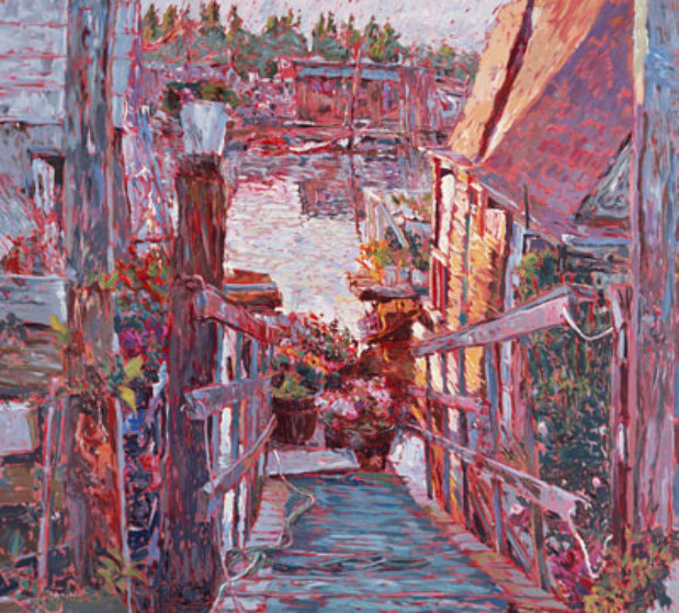 Sausalito Houseboats 1989 Limited Edition Print by Marco Sassone