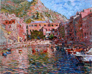 Vernazza Rosa AP  1988 Limited Edition Print by Marco Sassone