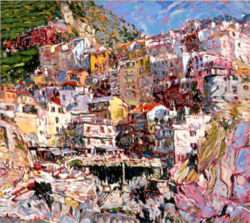 Manarola #1  1987 Limited Edition Print by Marco Sassone