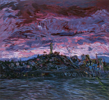 Coit Tower, San Francisco AP 1989 Limited Edition Print by Marco Sassone