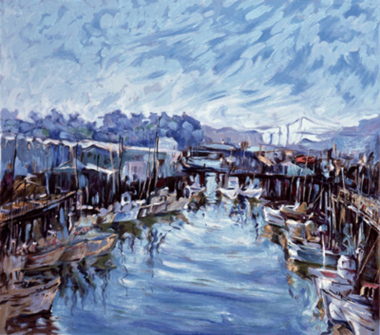 Fisherman's Wharf, San Francisco, 1976  AP  Limited Edition Print by Marco Sassone