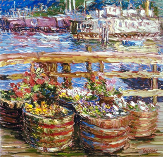 Houseboat Flowers AP 1988 Limited Edition Print by Marco Sassone