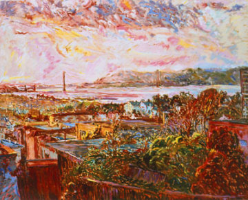 San Francisco Marina Dusk AP Limited Edition Print - Marco Sassone