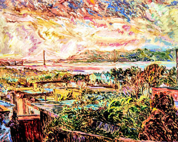 San Francisco Marina Dusk AP Limited Edition Print by Marco Sassone