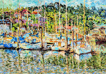 Sausalito Marina AP 1985 Limited Edition Print by Marco Sassone