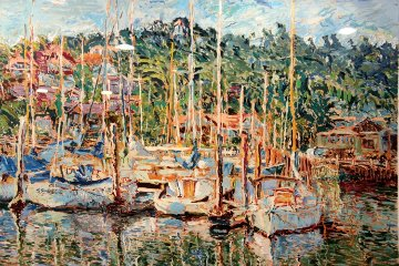 Sausalito Marina 1985 Limited Edition Print by Marco Sassone