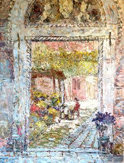 La Fioraia II 1998 52x40 Original Painting - Marco Sassone